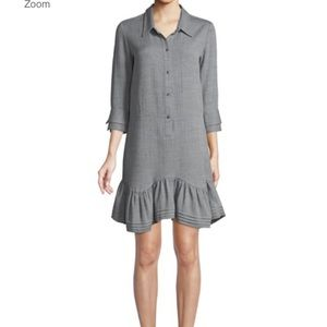 Halston Heritage Button-Front Collared Shirt Dress
